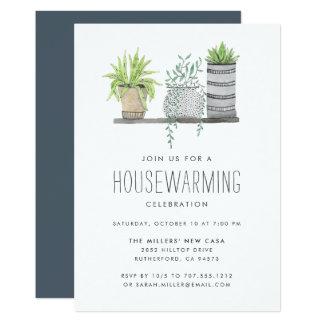 Convite de festas crescido jardim do Housewarming