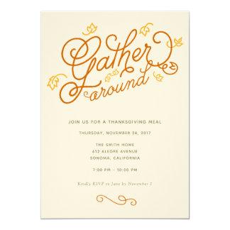 Convite de festas da acção de graças
