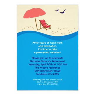 Convite de festas da aposentadoria da cadeira de