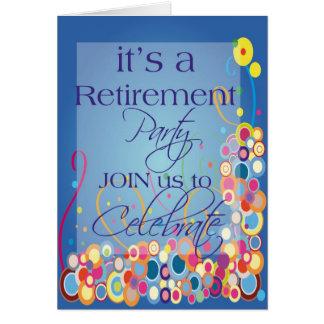 Convite de festas da aposentadoria da diva