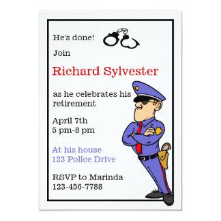 Convite de festas da aposentadoria da polícia