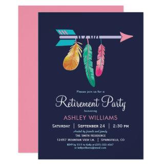 Convite de festas da aposentadoria de Boho