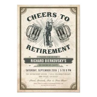 Convite de festas da aposentadoria do