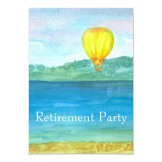 Convite de festas da aposentadoria do balão de ar