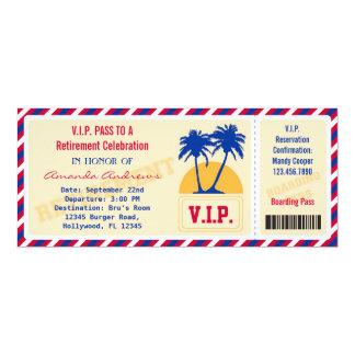 Convite de festas da aposentadoria do bilhete do