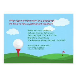 Convite de festas da aposentadoria do golfe
