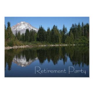 Convite de festas da aposentadoria do lago