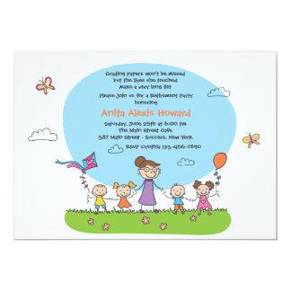 Convite de festas da aposentadoria do professor