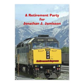 Convite de festas da aposentadoria, estrada de