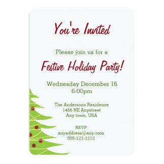 Convite de festas da árvore de Natal
