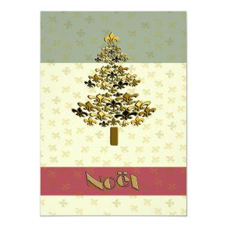 Convite de festas da árvore de Natal da flor de