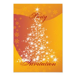 Convite de festas da árvore de Natal Sparkling