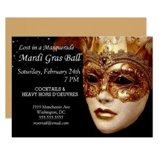 Convite de festas da bola de mascarada do carnaval