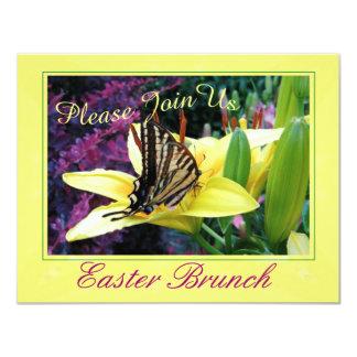 Convite de festas da borboleta da páscoa