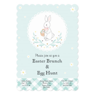 Convite de festas da caça do ovo da páscoa