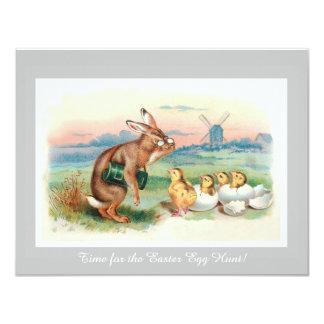 Convite de festas da caça do ovo da páscoa do