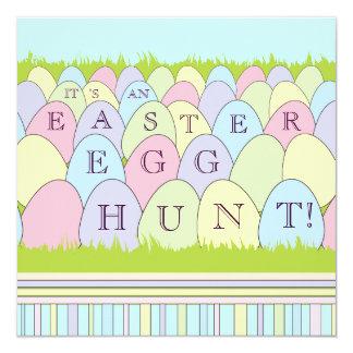 Convite de festas da caça do ovo da páscoa dos