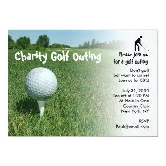 Convite de festas da caridade da excursão do golfe
