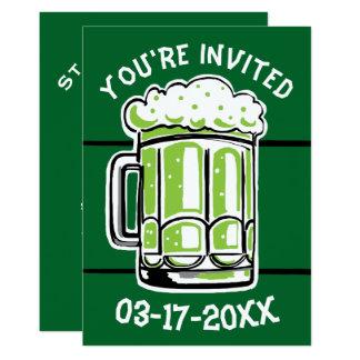 Convite de festas da cerveja do verde do dia de St