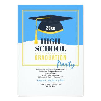 Convite de festas da conclusão do ensino