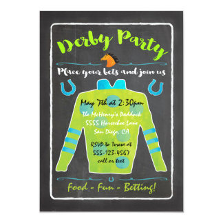 Convite de festas da corrida de cavalos de Derby