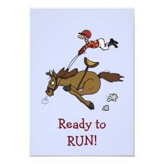 Convite de festas da corrida de cavalos do Triple
