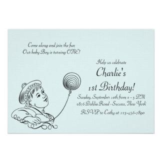 Convite de festas da criança do vintage