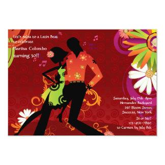 Convite de festas da dança da salsa