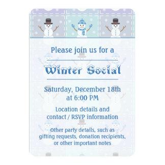 Convite de festas da edredão do inverno