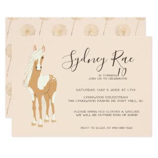 Convite de festas da equitação do adolescente