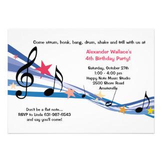 Convite de festas da escola de música