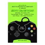 Convite de festas da estação do jogo de vídeo do