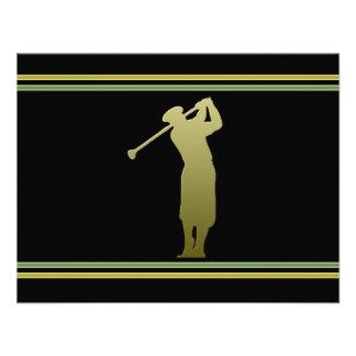 Convite de festas da excursão do golfe