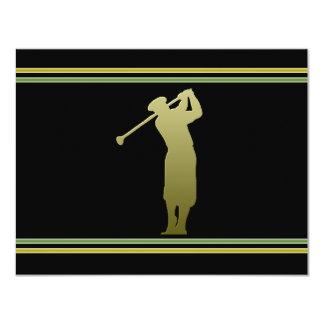 Convite de festas da excursão do golfe convite 10.79 x 13.97cm