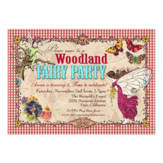 Convite de festas da fada da floresta
