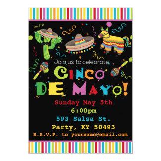 Convite de festas da festa de Cinco De Mayo