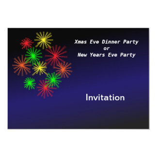 Convite de festas da festa de Natal ou da véspera