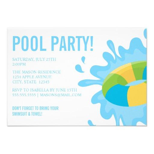 Convite de festas da FESTA NA PISCINA  