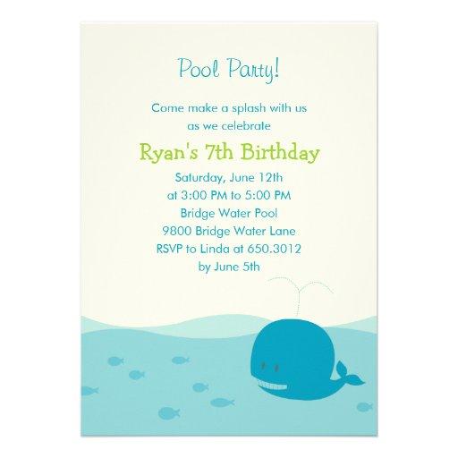Convite de festas da festa na piscina ou da praia