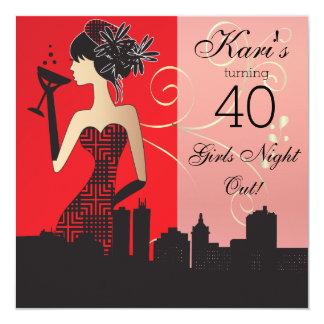 Convite de festas da festança do aniversário de 40