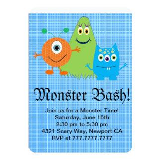Convite de festas da festança do monstro