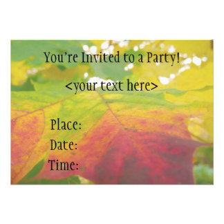 Convite de festas da folha de bordo