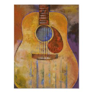 Convite de festas da guitarra acústica