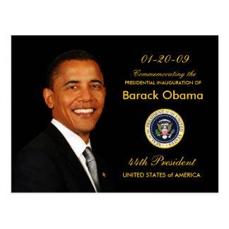 Convite de festas da inauguração de Obama - formal Cartão Postal