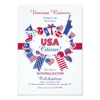 Convite de festas da nacionalização do cidadão dos