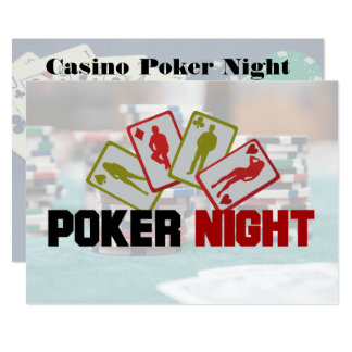 Convite de festas da noite do póquer do casino
