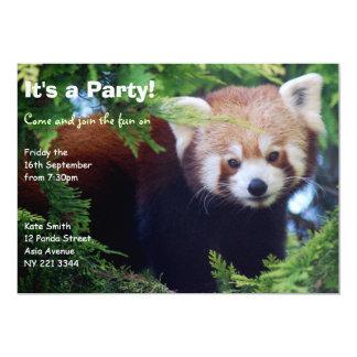 Convite de festas da panda vermelha