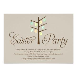 Convite de festas da páscoa da árvore da páscoa convite 12.7 x 17.78cm