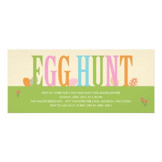 Convite de festas da páscoa da caça do ovo