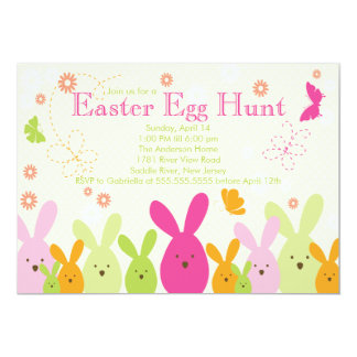 Convite de festas da páscoa da caça do ovo do
